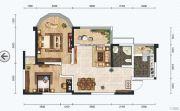 红星商业广场二期2室2厅1卫85平方米户型图