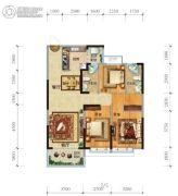 济南恒大奥东新都3室2厅2卫125平方米户型图