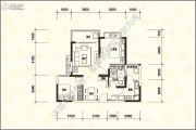 恒大名城2室2厅1卫85平方米户型图