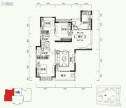 恒大山水城3室2厅2卫137平方米户型图