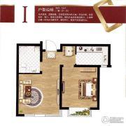 容大东海岸1室1厅1卫55平方米户型图