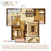 南昌恒大城2室2厅1卫81平方米户型图