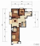 京贸国际城3室2厅2卫118平方米户型图