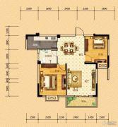 河畔春秋二期・碧水雅居2室2厅1卫85平方米户型图