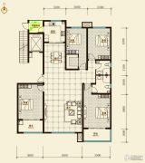 鑫界9号院4室2厅2卫210平方米户型图