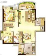 万科里享水韵2室2厅1卫86平方米户型图