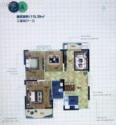 漯河・昌建MOCO太阳城3室2厅1卫115平方米户型图