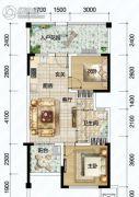 清澜半岛2室1厅1卫0平方米户型图