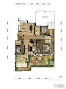 观山悦公馆4室2厅2卫214平方米户型图