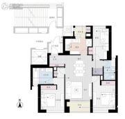 姑苏裕沁庭锦苑3室2厅2卫135平方米户型图