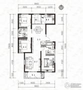 当代MOMA沿湖城3室2厅2卫144平方米户型图