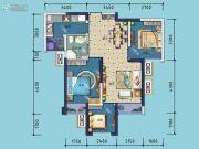 金科东方雅郡3室2厅1卫76平方米户型图