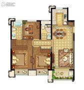 实地玫瑰庄园2室2厅2卫115平方米户型图
