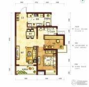 阳光100国际新城2室2厅1卫87平方米户型图