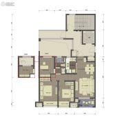 桂语里3室2厅1卫88平方米户型图