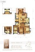 龙湖水晶郦城4室2厅2卫0平方米户型图