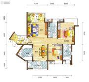 新鸿基悦城2室2厅2卫109平方米户型图