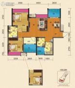博雅锦苑2室2厅2卫102平方米户型图