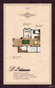 金峰凤麟府1室1厅1卫80平方米户型图