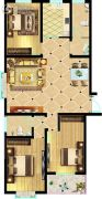 东方明珠3室2厅2卫141平方米户型图