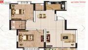 阳光渭水华庭2室2厅1卫92平方米户型图