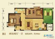 泊渡2室2厅1卫104平方米户型图