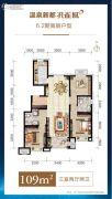 温泉新都孔雀城3室2厅2卫109平方米户型图