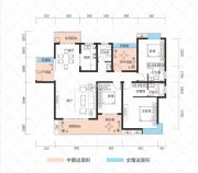 云鼎・天阙2室2厅3卫137--160平方米户型图