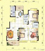 苏通国际新城3室2厅2卫135--150平方米户型图