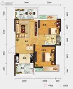 一城悦府2室2厅1卫69平方米户型图