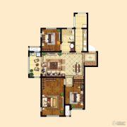 中粮祥云3室2厅1卫97平方米户型图