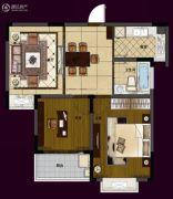华夏世纪锦园2室2厅1卫116平方米户型图