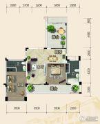 恩平泉林黄金小镇2室2厅2卫103平方米户型图