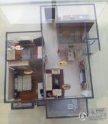 上上城青年社区二期2室2厅1卫79平方米户型图