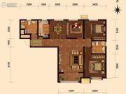 华润橡树湾3室2厅1卫120平方米户型图