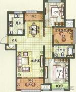 新城香溢紫郡2室2厅1卫109平方米户型图