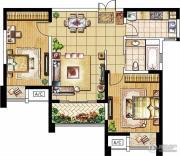 绿洲天逸城2室2厅1卫91--95平方米户型图