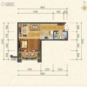 香江健康小镇1室1厅1卫0平方米户型图