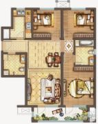 保利中央公园3室2厅2卫113平方米户型图