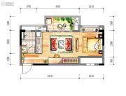 时代幸汇1室1厅1卫41平方米户型图