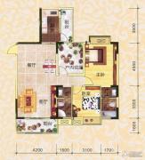 永翔时代名苑2室2厅1卫106平方米户型图