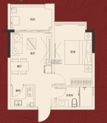 岭南世家・瑞府1室2厅1卫0平方米户型图