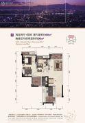 保利江上明珠畅园2室2厅2卫80平方米户型图