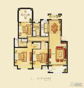 金洋奥澜半岛3室2厅2卫121平方米户型图
