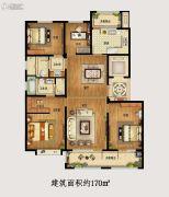金隅和府4室2厅2卫170平方米户型图