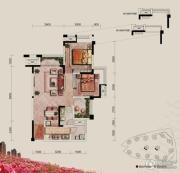融汇半岛玫瑰公馆2室2厅1卫76平方米户型图