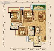 保利湖心岛3室2厅2卫105平方米户型图