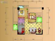 德源第一城2室2厅1卫60平方米户型图