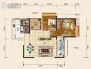 东星・熙城2室2厅2卫84--85平方米户型图