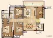 佛山万科城4室2厅2卫158平方米户型图